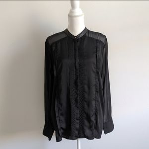 Rock & Republic Black Long Sleeve Tuxedo Shirt